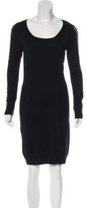 Andrew Marc Embellished Long Sleeve Dress
