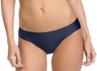 Becca by Rebecca Virtue Becca Women's Shimmer Reversible American Swim Bottom-M-Indigo