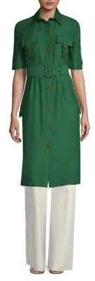 Derek Lam Short-Sleeve Utility Shirt Dress