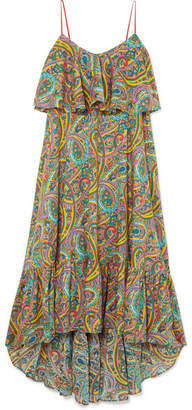 Etro Printed Cotton-poplin Maxi Dress - Blue