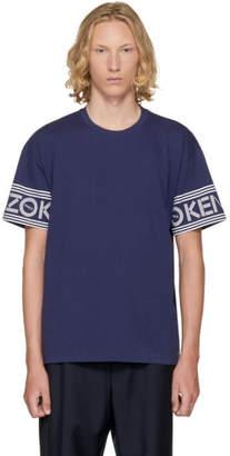 Kenzo Navy Logo Sleeve T-Shirt