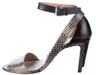 Maison Margiela Snakeskin Ankle Strap Sandals