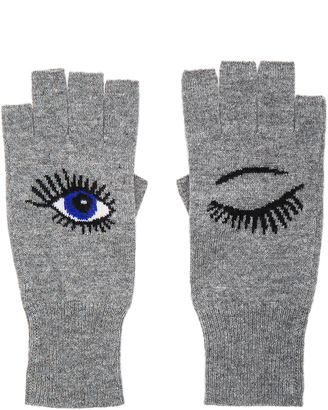 Autumn Cashmere Wink Fingerless Gloves $114 thestylecure.com