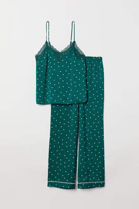 H&M Pajama Camisole and Pants - Turquoise