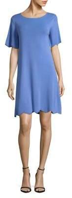 Max Mara Flutter-Sleeve Scalloped Hem Dress
