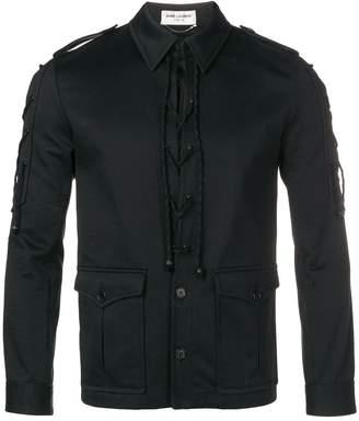 Saint Laurent lace-up shirt jacket