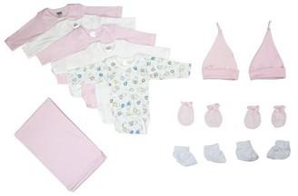 Bambini Newborn Baby Girl 12 Pc Layette Baby Shower Gift Set