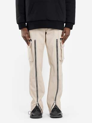 MEN'S BEIGE ZIPPED CARGO PANTS