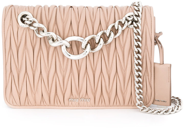 Miu Miu Miu Miu matelassé chain shoulder bag