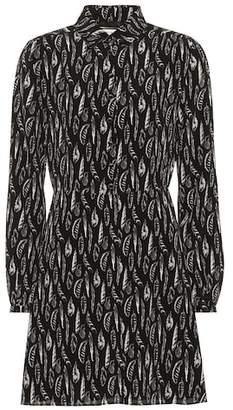 Saint Laurent Printed silk minidress