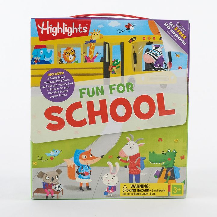 Highlights Kohl's Cares® Fun For School Activity Kit 9-piece Set by Highlights