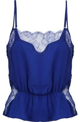 Fleur Du Mal Lace-Paneled Silk Camisole