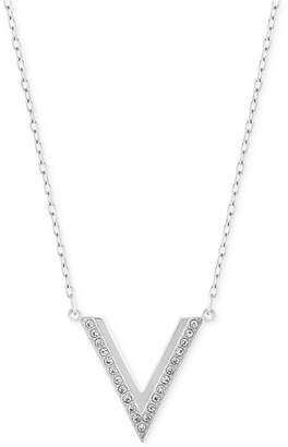Swarovski Rose Gold-Tone Small Chevron Pendant Necklace $89 thestylecure.com