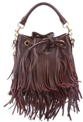 Saint Laurent Emmanuelle Fringe Bucket Bag