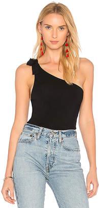 MAJORELLE Lina Bodysuit in Black $108 thestylecure.com