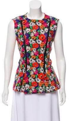 Veronica Beard Neoprene Floral Vest