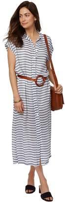 Rachel Pally Rayon Shirt Dress - Blue/ White Stripe