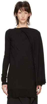 Rick Owens Black Cashmere Tunic Sweater