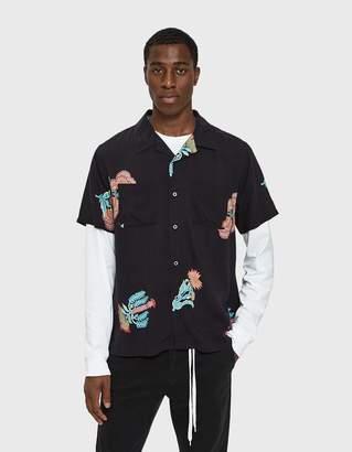 Stussy Hana Printed Shirt in Black