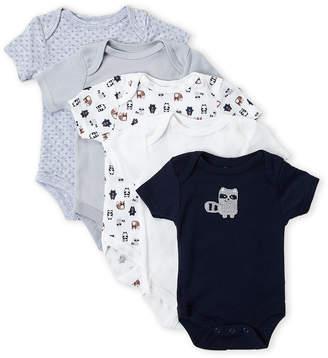 Rene Rofe Newborn Boys) 5-Pack Raccoon Bodysuits