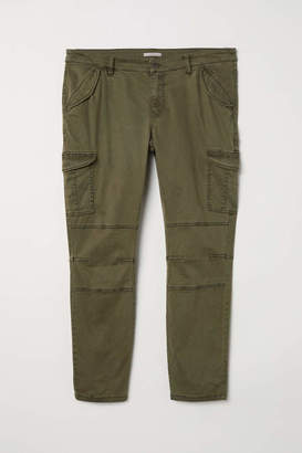 H&M H & M+ Cargo Pants - Dark khaki green - Women