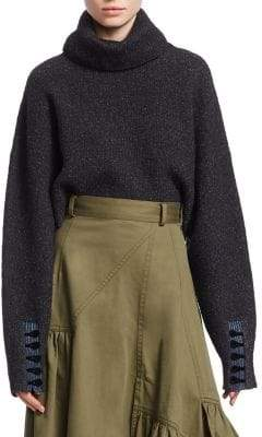 3.1 Phillip Lim Folk Turtleneck Crop Sweater