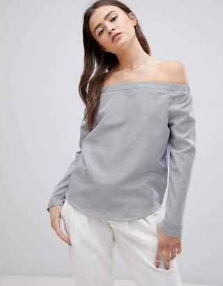 Glamorous Off Shoulder Stripe Top
