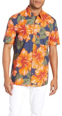 French Connection Wela Regular Fit Hawaiian Camp Shirt