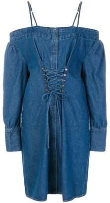 Sjyp cold shoulder denim dress