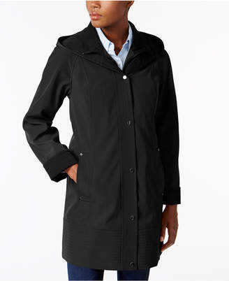 Jones New York Two-Toned A-Line Hooded Raincoat $180 thestylecure.com