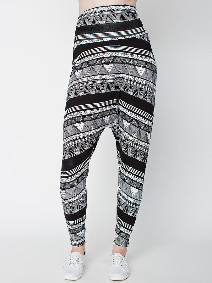 American Apparel Printed Spandex Jersey Harem Pant