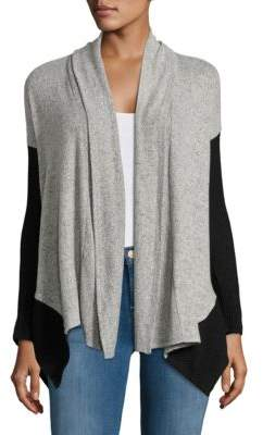Lord & Taylor Design Lab Colorblocked Knit Cardigan