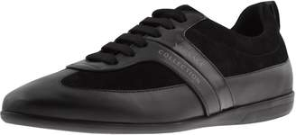 Versace Leather Trainers Black