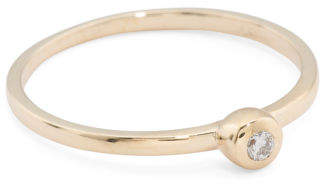 Made In Spain 14k Gold Diamond Pinky Ring