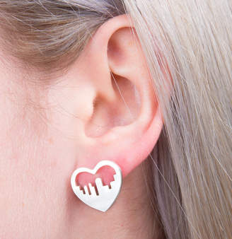 a ring a day City Skyline Heart Earrings