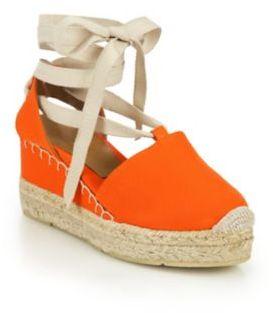Ralph Lauren Uma Canvas Espadrille Wedge Sandals $250 thestylecure.com