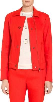 St. John Stretch Linen Twill Collar Jacket