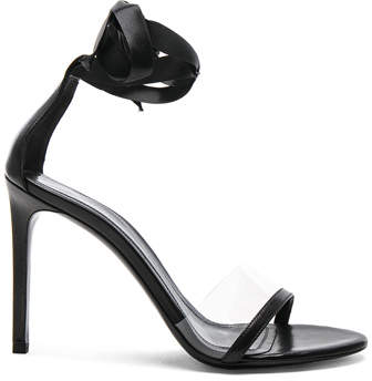 CALVIN KLEIN 205W39NYC Leather Camri Ankle Tie Sandals