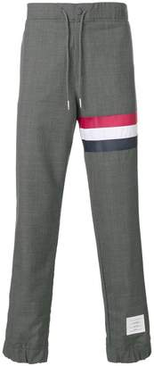 Thom Browne Sweatpants With Seamed In Red, White And Blue Stripe In Super 120's Plain Weave Wool