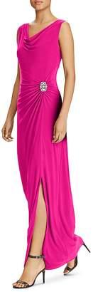 Lauren Ralph Lauren Draped Jersey Gown