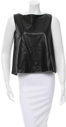 ADAM by Adam Lippes Leather Sleeveless Top w/ Tags
