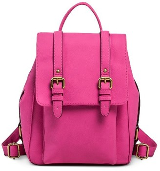 Merona Women's Vertical Buckles Backpack Faux Leather Handbag - Merona $34.99 thestylecure.com