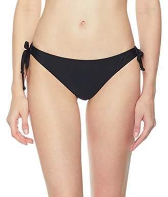 Ocean Blues Women's Loop Tie Side Hipster Bikini Bottom Size
