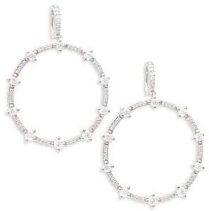 Nadri Crystal Hoop Drop Earrings
