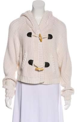 Tibi Long Sleeve Hooded Cardigan