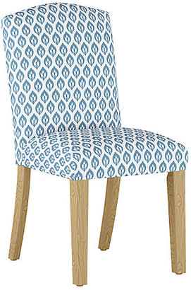 One Kings Lane Marie Side Chair - Chambray Floral Linen