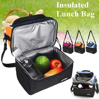 ONLINE 6.7L Waterproof Portable Dual Compartment Thermal Insulated Lunch Bag Cooler Lunch Box Tote School Picnic Travel
