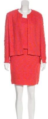 Chanel Bouclé Three-Piece Suit Pink Bouclé Three-Piece Suit