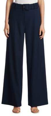 Oscar de la Renta Wide-Leg Cotton Pants