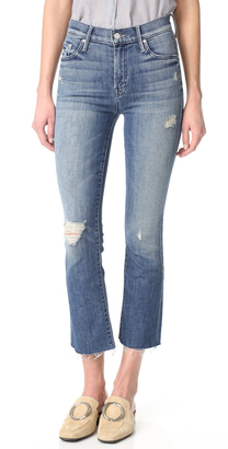 MOTHER The Insider Crop Fray Jeans $248 thestylecure.com